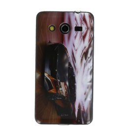 Zwarte Auto TPU / Hard case cover hoesje voor Samsung Galaxy Core 2 G355H