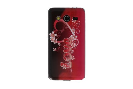 Love TPU Case Cover Hoesje voor Samsung Galaxy Core 2 G355H