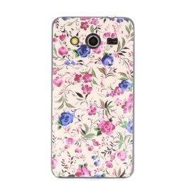 Vintage Bloem TPU Case Cover hoesje voor Samsung Galaxy Core 2 G355H