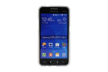 Zwart Bloem TPU Case Cover Hoesje voor Samsung Galaxy Core 2 G355H