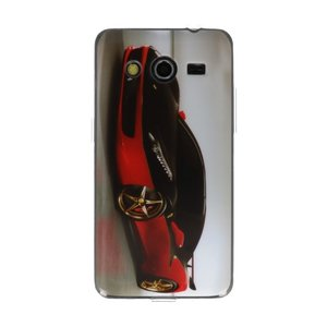 Rode Auto TPU / Hard Case Cover Hoesje voor Samsung Galaxy Core 2 G355H