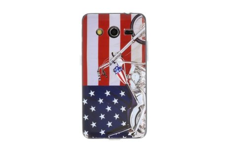 USA TPU Case Cover Hoesje voor Samsung Galaxy Core 2 G355H
