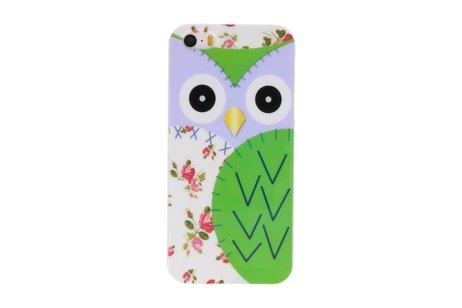 Groen Uil Hard Case Cover Hoesje voor Apple iPhone 5/5s/SE