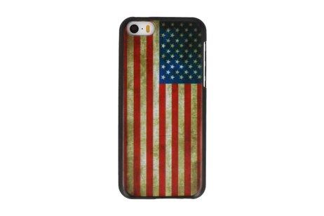 USA Hard Case Cover Hoesje voor Apple iPhone 5C
