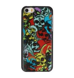 Skull Hard Case Cover Hoesje voor Apple iPhone 5C