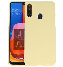 Color Backcover Samsung Galaxy A20s Geel