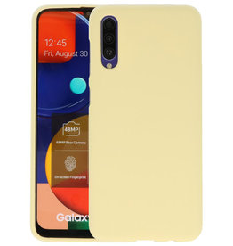 Color Backcover Samsung Galaxy A50s Geel