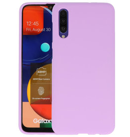 Color Backcover Samsung Galaxy A50s Paars