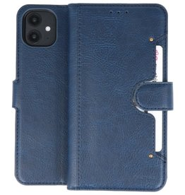 KAIYUE - Luxe Portemonnee Hoesje iPhone 11 Navy
