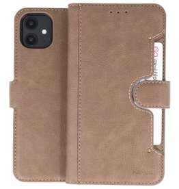 KAIYUE - Luxe Portemonnee Hoesje iPhone 11 Grijs