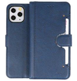 KAIYUE - Luxe Portemonnee Hoesje iPhone 11 Pro Navy