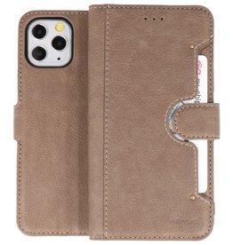 KAIYUE - Luxe Portemonnee Hoesje iPhone 11 Pro Grijs