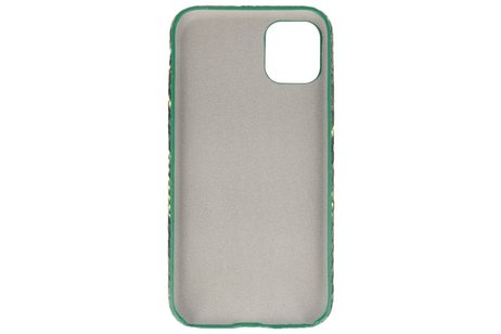 Slang Design Back Cover voor iPhone 11 Pro Max Donker Groen