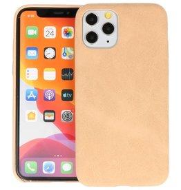 Leder Design Back Cover iPhone 11 Pro Beige