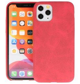 Leder Design Back Cover iPhone 11 Pro Rood