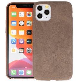 Leder Design Back Cover iPhone 11 Pro Donker Bruin