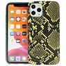 Slang Design Back Cover iPhone 11 Pro Donker Groen