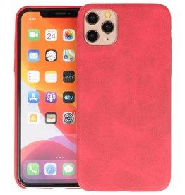 Leder Design Back Cover iPhone 11 Pro Max Rood