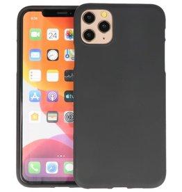 BackCover Hoesje Color Telefoonhoesje iPhone 11 Pro Max - Zwart