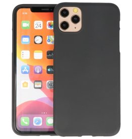 Color Backcover iPhone 11 Pro Max Zwart