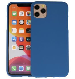BackCover Hoesje Color Telefoonhoesje iPhone 11 Pro Max - Navy
