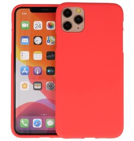 BackCover Hoesje Color Telefoonhoesje iPhone 11 Pro Max - Rood