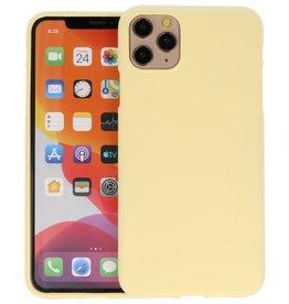 BackCover Hoesje Color Telefoonhoesje iPhone 11 Pro Max - Geel
