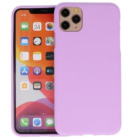 BackCover Hoesje Color Telefoonhoesje iPhone 11 Pro Max - Paars