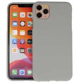 Color Backcover iPhone 11 Pro Max Grijs