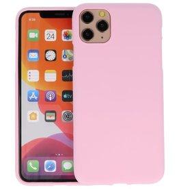 BackCover Hoesje Color Telefoonhoesje iPhone 11 Pro Max - Roze