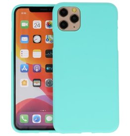BackCover Hoesje Color Telefoonhoesje iPhone 11 Pro Max - Turquoise