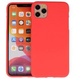 BackCover Hoesje Color Telefoonhoesje iPhone 11 Pro - Rood