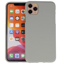 BackCover Hoesje Color Telefoonhoesje iPhone 11 Pro - Grijs