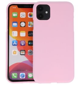 Color Backcover iPhone 11 Roze