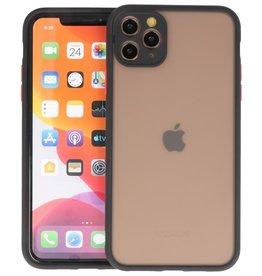 iPhone 11 Pro Max Hoesje Hard Case Backcover Telefoonhoesje Zwart