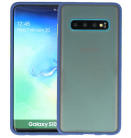 Samsung Galaxy S10 Hoesje Hard Case Backcover Telefoonhoesje Blauw