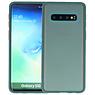 Samsung Galaxy S10 Hoesje Hard Case Backcover Telefoonhoesje Donker Groen