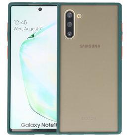 Samsung Galaxy Note 10 Hoesje Hard Case Backcover Telefoonhoesje Donker Groen