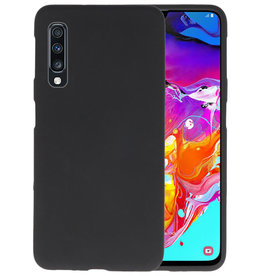 Color Backcover Samsung Galaxy A70s Zwart