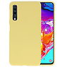 Color Backcover Samsung Galaxy A70s Geel