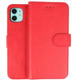 Bookstyle Wallet Cases Hoes iPhone 11 Rood
