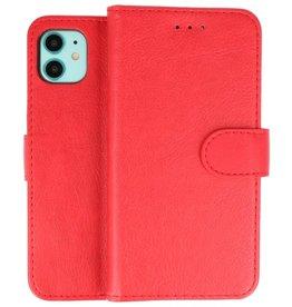 iPhone 11 Hoesje Kaarthouder Book Case Telefoonhoesje Rood