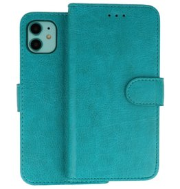 Bookstyle Wallet Cases Hoes iPhone 11 Groen