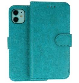 iPhone 11 Hoesje Kaarthouder Book Case Telefoonhoesje Groen