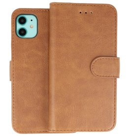 Bookstyle Wallet Cases Hoes iPhone 11 Bruin