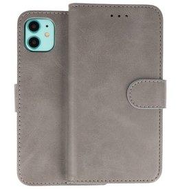 iPhone 11 Hoesje Kaarthouder Book Case Telefoonhoesje Grijs
