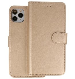 Bookstyle Wallet Cases Hoes iPhone 11 Pro Goud