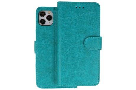 Bookstyle Wallet Cases Hoes voor iPhone 11 Pro Groen
