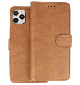 Bookstyle Wallet Cases Hoes iPhone 11 Pro Bruin