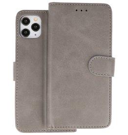Bookstyle Wallet Cases Hoes iPhone 11 Pro Grijs